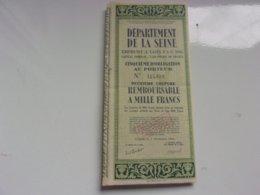 DEPARTEMENT DE LA SEINE (1942) - Actions & Titres