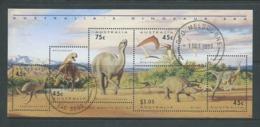 Australia 1993 Dinosaurs Miniature Sheet Fine CTO Full Gum - Used Stamps