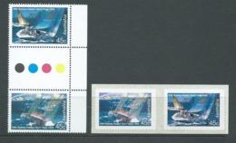 Australia 1994 Yacht Race 50th Anniversary Marginal Gutter Pair & Peel & Stick Pair  MNH - 1990-99 Elizabeth II