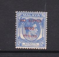 Malaya-Penang Japan Occupation N 7 1942 12 Ultra,mint Never Hinged - Penang
