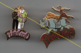 Pin's Cirque Le Florilégio, Dos Doré Par Artakys, Rare....BT14 - Autres
