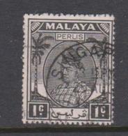 Malaya-Perlis Scott 7 1951 Raja Syed Putra 1c Black,used - Perlis