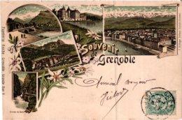 Cpa - Souvenir De Grenoble - Litho Gruss - Avec Timbre 1900s - Grenoble