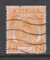Malaya-Perlis Scott 8 1951 Raja Syed Putra 2c Orange,used - Perlis