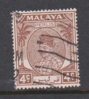 Malaya-Perlis Scott 10 1951 Raja Syed Putra 4c Chocolate,used - Perlis