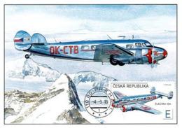 Czech Republic - 2019 - The World In Clouds - Electra 10A Airplane - Set Of 2 Maximum Cards - Tschechische Republik