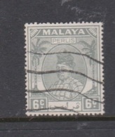 Malaya-Perlis Scott 11 1951 Raja Syed Putra 6c Grey,used - Perlis