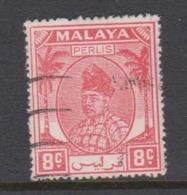 Malaya-Perlis Scott 12 1951 Raja Syed Putra 8c Rose Red,used - Perlis