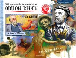 Sao Tome 2016  Paintings  Odilon Redon - Sao Tome And Principe