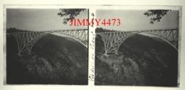 Plaque De Verre En Stéréo - Viaduc De Viaur En 1908 Entre Tauriac Aveyron Et Tanus Tarn - Taille 58 X 128 Mlls - Glass Slides