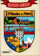 ECUSSON ADHESIF...ST-NICOLAS DU PELEM  (BRETAGNE)...CPM - Stickers