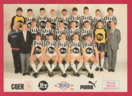 Sporting De Charleroi - Equipe , Saison 1986-1987 ( Voir Verso, Signatures Des Joueurs ) - Calcio