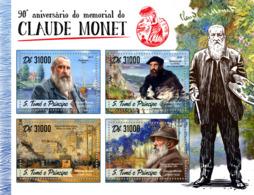 Sao Tome 2016  Paintings  Claude Monet - Sao Tome And Principe