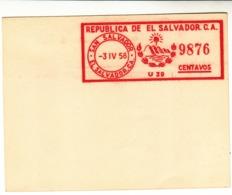 El Salvador / Meter Mail / Proofs - El Salvador