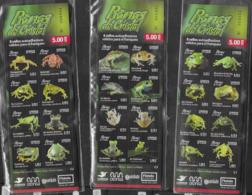 ECUADOR, 2019, MNH,AMPHIBIANS, FROGS, 3  BOOKLETS - Frogs