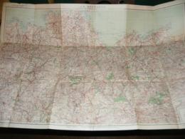 SERVICE GEOGRAPHIQUE DE L ARMEE : CARTE DE LA BRETAGNE ( OUEST DE RENNES ) 1929 - Mapas Geográficas