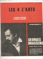 Partition Musicale Ancienne , GEORGES BRASSENS , LES 4 Z'ARTS , Frais Fr 1.85e - Partitions Musicales Anciennes