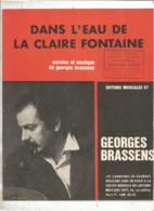 Partition Musicale Ancienne , GEORGES BRASSENS , DANS L'EAU DE LA CLAIRE FONTAINE , Frais Fr 1.85e - Scores & Partitions