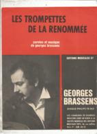 Partition Musicale Ancienne , GEORGES BRASSENS , LES TROMPETTES DE LA RENOMEE , Frais Fr 1.85e - Partitions Musicales Anciennes