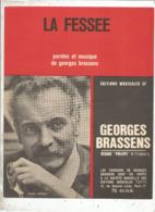 Partition Musicale Ancienne , GEORGES BRASSENS , LA FESSEE , Frais Fr 1.85e - Partitions Musicales Anciennes