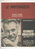 Partition Musicale Ancienne , GEORGES BRASSENS , LE MOYENÂGEUX , Frais Fr 1.85e - Partitions Musicales Anciennes