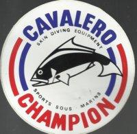 Autocollant - Cavalero Champion - Ski Diving Equipment - Sports Sous-marins - Autocollants