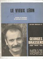 Partition Musicale Ancienne , GEORGES BRASSENS , LE VIEUX LEON , Frais Fr 1.85e - Partitions Musicales Anciennes