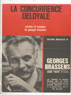 Partition Musicale Ancienne , GEORGES BRASSENS , LA CONCURRENCE DELOYALE , Frais Fr 1.85e - Partitions Musicales Anciennes