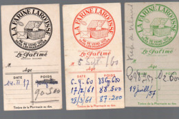 Lot De 3 TICKETS DE PESEE Offerts Par LA FARINE LAROUSSE (PPP20367) - Vieux Papiers