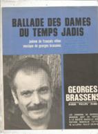 Partition Musicale Ancienne , GEORGES BRASSENS , BALLADE DES DAMES DU TEMPS JADIS , Frais Fr 1.85e - Scores & Partitions