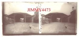 Plaque De Verre En Stéréo - Hangar En 1927 - BASSOUES 32 Gers - Taille 58 X 128 Mlls - Plaques De Verre