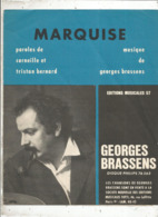 Partition Musicale Ancienne , GEORGES BRASSENS , MARQUISE , Frais Fr 1.85e - Partitions Musicales Anciennes