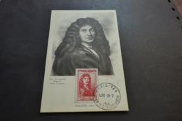 Carte Maximum 31/07/1944 Série Célébrités MOLIERE N°612 - Cartes-Maximum