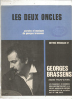 Partition Musicale Ancienne , GEORGES BRASSENS , LES DEUX ONCLES , Frais Fr 1.85e - Partitions Musicales Anciennes