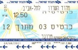 Année 2011 - Lot De 12 Tickets Transport Prague ??  - Scans Recto-verso - Bus