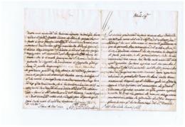 SIENA - CARDINALE / CARDINAL CAMERLENGO ANTONIO FELICE ZONDADARI  - LETTERA MANOSCRITTA - AUTOGRAFO / AUTOGRAPH - 1737 - Autografi
