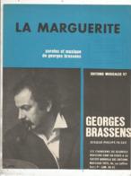 Partition Musicale Ancienne , GEORGES BRASSENS , LA MARGUERITE , Frais Fr 1.85e - Partitions Musicales Anciennes