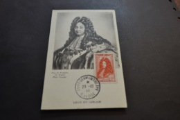 Carte Maximum 23/10/1944 Série Célébrités Louis XIV  N°617 - Cartes-Maximum