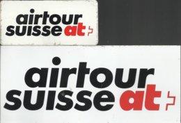 2 Autocollants - Airtour Suisse At - Autocollants