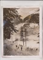 DAVOS SWISS SWITZERLAND  WINTER SPORTS 25*20CM Fonds Victor FORBIN 1864-1947 - Lugares