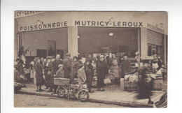 SAINT GERMAIN EN LAYE POISSONNERIE MUTRICY LEROUX CARTE DE SERVICE /FREE SHIPPING REGISTERED - St. Germain En Laye