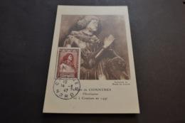 Carte Maximum Célébrités 14/03/1947 Philippe De Commynes N°767 - Cartes-Maximum