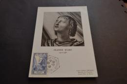 Carte Maximum Célébrités 28/10/1946 Jeanne D'arc N°768 - Cartes-Maximum