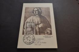 Carte Maximum Célébrités 14/03/1947 Jean De Gerson N°769 - Cartes-Maximum