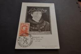 Carte Maximum Célébrités 28/10/1946 Charles VII N°770 - Cartes-Maximum