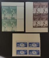 LC- 1959 Medetirreneam Games Complete Set 3v. Blocks/4 MNH - Lebanon