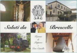 """CPM:  BRESCELLO  (italie):  Cristo Di """"Don Camillo"""" E Scorci Di Brescello.    (E2331) - Reggio Emilia"""