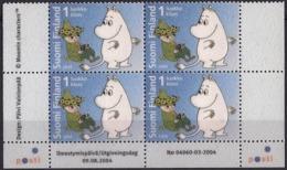 Finland 2004 Moomin - Flocking Attached (velvet Feel) Unusual - Finland
