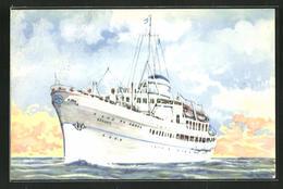 AK Passagierschiff MV Kanaris, Nomikos Lines Greece - Paquebots