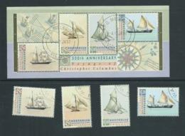 Australia 1992 Australia Day Columbus & Ships Set Of 4 & Miniature Sheet CTO Full Gum - 1990-99 Elizabeth II